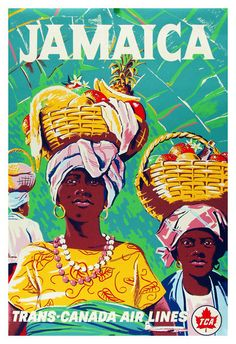 Jamaica Trans Canada Air Lines Travel Poster by Chodat by WallArty