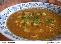 Babiččina kmínová polévka recept - TopRecepty.cz Czech Recipes, Ethnic Recipes, Food 52, Bon Appetit, Cheeseburger Chowder, Grilling, Curry, Food And Drink, Yummy Food
