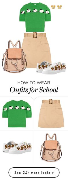 """""""Casual or School Outfit"""" by mozeemo on Polyvore featuring Miu Miu, AlexaChung and Chloé"""