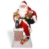 Found it at Wayfair - Plush Santa Climbing Chimney Christmas Decoration