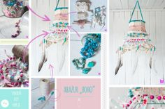 DIY boho chandelier #boho #DIY #chandelier #lace #feather #turquoise www.facebook.com/loflov