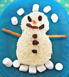 Cute snowman snack
