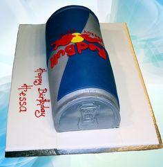 red bull cake