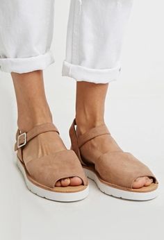 Faux Suede Avarca Sandals | Forever 21 - 2049257243