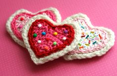 February's Crochet Patterns at Michaels.com ~ ~ ~ Crochet a bunch of these and make them into a really cute scarf!