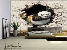 3D Kung Fu Panda Wall Paper Wall Print Decal Wall Deco Indoor wall Mural Home au.picclick.com