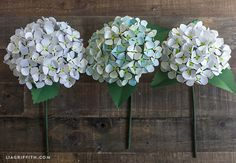Hydrangeas are such a beautiful summer flower and a great pick for wedding bouquets and reception decor. One way to get this lush garden look that will last beyond your special event is to make your blooms with paper. Since they are paper, you can create these gorgeous flowers ahead of time and then reuse …