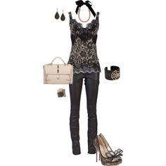 """""""Leather and Lace"""" by erinlindsay83 on Polyvore"""