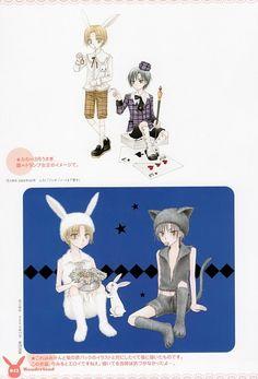 Tachibana Higuchi, Gakuen Alice, Gakuen Alice Illustration Fanbook, Ruka Nogi, Natsume Hyuuga