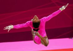 Gabrielle Douglas of the U. Olympic gymnastics team practices at the North Greenwich Arena during the 2012 Summer Olympic Games in London, July (Chang W. Lee/The New York Times) Gymnastics Team, Olympic Gymnastics, Olympic Games, Gaby Douglas, Ny Times, New York Times, 2012 Summer Olympics, Floor Workouts, London Photos