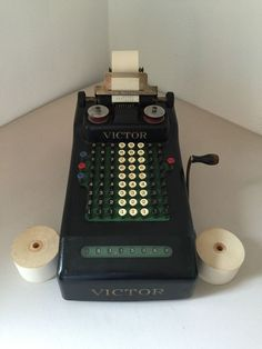 Vtg VICTOR ADDING MACHINE Antique Collectible Calculator Early 1900's 1920's #Victor