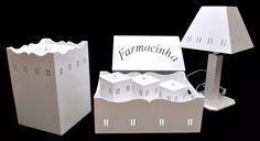 (6) Kit Bebê Passa Fita C/abajur E Farmacinha S/pfraldas Bco Mdf - R$ 124,99 em Mercado Livre
