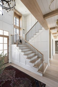 House Staircase, Staircase Remodel, Staircases, Escalier Design, Home Reno, My Dream Home, Home Interior Design, Design Interiors, Staircase Interior Design