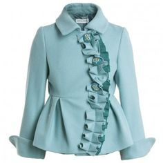 I Pinco Pallino Girls Blue Wool Jacket at Childrensalon.com