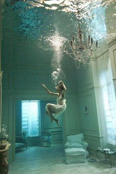 this is a dream come true.  i've always wanted to fill up my house with water and swim around in it.