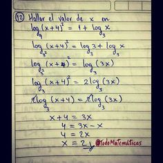 Tienes problemas para resolver problemas con logaritmos??? #TodoMatematicas es la solución a tus problemas... Problemas Resueltos 100% GARANTIZADOS... Contactanos y no te vas arrepentir #Clases #Tareas #Trabajos #Talleres #Pruebas #Ayuda #Parciales #Actividades #Estudiar #Algebra #Geometria #Analisis #Trigonemetria #Logaritmos #Derivadas #Intregales #Limites #Venezuela #Caracas #UNEXPO #USB #ENAHP #UAH #UC #UCV #UCAB