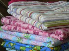 "Baby Blankets(out of sheets) for the NICU. They are always in need of blankets so this would be a great project to do all year long.   The Creative Homemaker: ABC Summer ""H"" Day"