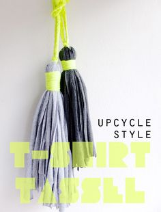 How to make a t-shirt tassel Upcycle Recycle