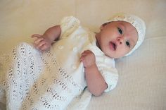 Find adorable knit christening gowns for your children on our etsy page! #renattoni #christening #children #baby