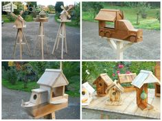 Adorable Pallet Birdhouses Plus Birdfeeders / Mes Créations écologiques I enjoy making my creations out of recycled pallet wood including these Pallet Birdhouses Plus Birdfeeders. Typically, I use a jigsaw, a drill, and other common woodworking tools. I am someone who likes my projects to come out well. So, I'll occasionally repeat several times until the project is just right. Pallet Birdhouses: To begin…