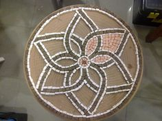 Terracota Mosaic Flower Coffee Table WIP 3 Tulay by mozaikci, via Flickr