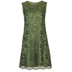 Dolce & Gabbana Lace Overlay Dress ($1,051) ❤ liked on Polyvore