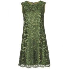 Dolce & Gabbana Lace Overlay Dress found on Polyvore