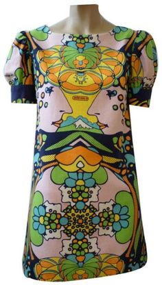 Dress by Peter Max, 1960s