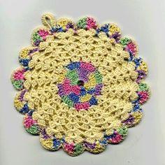 Vintage Florals Potholders Crochet Patterns Vintage Flower