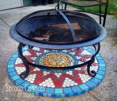 Fire pit rug