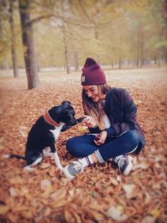 Fall is for frolicking in foliage with furry friends.   Photo via @fannywallride on Instagram