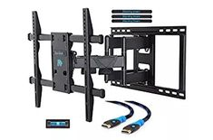 Mounting Dream Premium TV Wall Mount Bracket with Full Motion Articulating Arm for most Inch LED, LCD and Plasma TV up to VESA and 132 lbs Fits Wood Stud Spacing up to 24 inches Tv Wall Brackets, Tv Wall Mount Bracket, Wall Mounted Tv, 75 Inch Tvs, Best Tv Wall Mount, Long Walls, Space Up, Plasma Tv, Tv Furniture