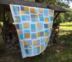 Kat & Cat Quilts: Finished Split Nine Patch Quilt