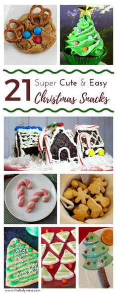 Use these 21 super cute and easy Christmas snacks for family gatherings school parties, baking with kids, home schooling, and more. Christian Christmas, Simple Christmas, Family Christmas, Christmas And New Year, All Things Christmas, Christmas Holidays, Christmas Crafts, Christmas Ideas, Holiday Ideas