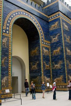 Ishtar Gate - originally one of the Seven Wonders of the World; this gate was built in Babylon and was dedicated to the goddess Ishtar.