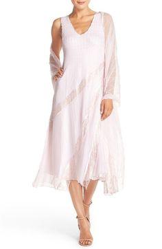 Komarov Chiffon A-Line Dress & Shawl available at #Nordstrom
