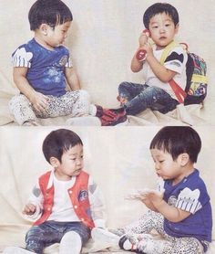 Korean Tv Shows, Korean Variety Shows, Triplets, Twins, Superman Kids, Superman Wallpaper, Cute Faces, Little Star, Kids And Parenting