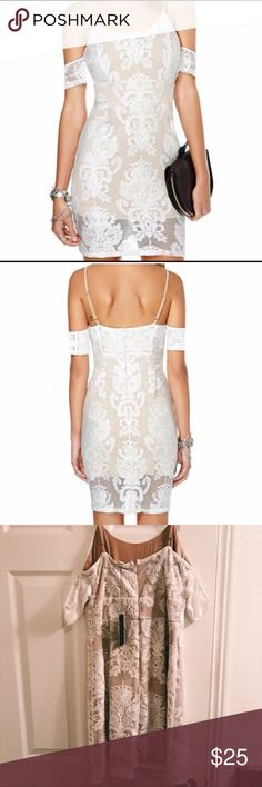 White Lace Dress looks like For Love & Lemons Gorgeous dress new with tags!! ❣️Brand is May+July. ❣️ looks so similar to For Love and Lemon's dress. Size Small. Tags: Nasty Gal, ASOS, Urban Outfitters, One Teaspoon, For Love and Lemons, Revolve, Reformation, Indah, privacy please, tularosa, flynn skye, lovers and friends, majorelle, lpa, free people Urban Outfitters Dresses Mini