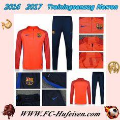 Schönsten Klassiker Trainingsanzüge Fussball Herren Kits FC Barcelona Orange Printing Saison 2016 2017 Deutschland Billig Bestellen
