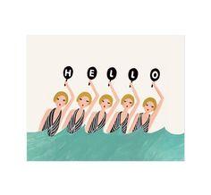 Rifle Paper Company - Synchronized Swimmers Print  Hullo!  @Rachel Appadurai