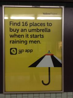 Find 16 places to buy an umbrella when it starts raining men