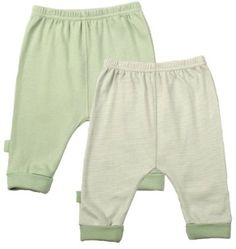 Amazon.com: Kushies Everyday Layette 2 Pack Cuffed Pant: Clothing