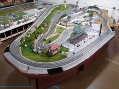 carrera slot car track layouts - Google Search
