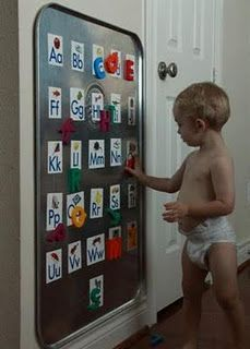 Magnetic board...not just for kids!