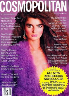 Cosmopolitan magazine, JANUARY 1981 Model: Eva Voorhees Photographer: Francesco Scavullo