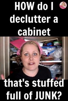How Do I Declutter a Cabinet That is Stuffed Full of Junk   I finally tackled an overwhelming storage space in my home. A storage space I'd avoided looking at for a very long time.A storage space I had attempted to declutter before.But I did it. And I made a video.So yay.The main thing I learned: Look. Always, always look.   A Slob Comes Clean   #ASlobComesClean #declutter #storagecleanout