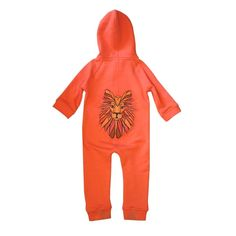 FILEMON KID - Onesie Lion coral
