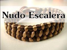 Manualidades DIY - Pulsera con Nudo Escalera - YouTube