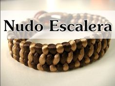 Manualidades DIY - Pulsera con Nudo Escalera - YouTube