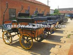 US style comfortable marathon horse cart horse carriage with big six seats